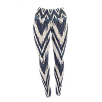 "Heidi Jennings ""Tribal Chevron Black"" Yoga Leggings"