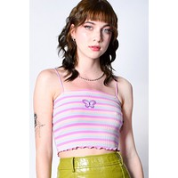 ECH Collection Striped Butterfly Top - Berry Punch