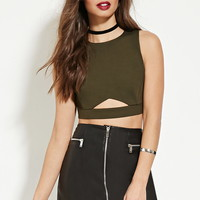 Cutout-Front Crop Top | Forever 21 - 2000151245