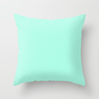 Chevron Mint Green Print Throw Pillow by productoslocos
