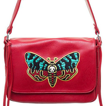 Death Head Moth Embroidered Purse
