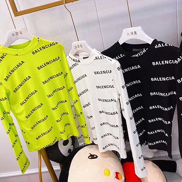balenciaga Fashion Casual Long Sleeve Sweater Pullover