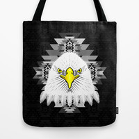 Geometric Eagle Tote Bag by chobopop