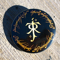 Lord of the Rings J.R.R. Tolkien Hobbit Pinback Button Badge or Magnet