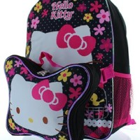 "Hello Kitty 15"" Backpack with Lunch Bag"