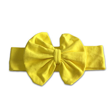 Yellow Big Bow Headband