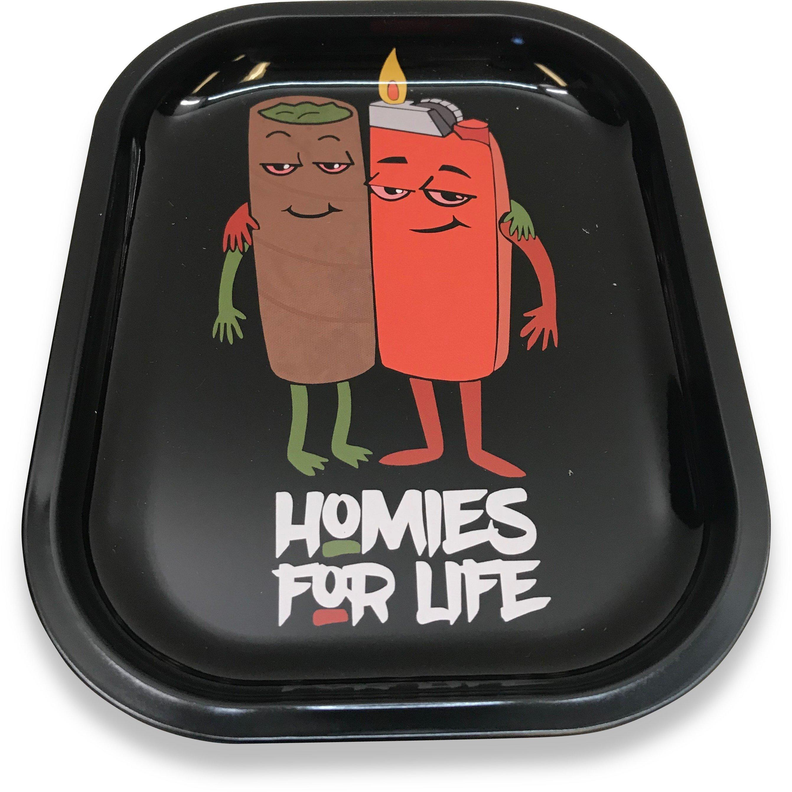 Image of Designed Metal Rolling Tray (Mini) - Homies For Life