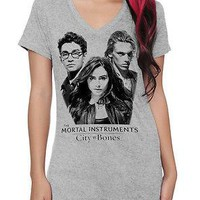 Licensed cool The Mortal Instruments: City Of Bones V-Neck T-Shirt Clary Jace Simon Hot Topic