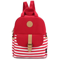 Canvas Backpack Korean Style Tote Bag [6304974852]