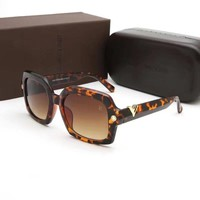 """Louis Vutitton"" Unisex Fashion All-match Personality Leopard Sunglasses Glasses Couple Collocation Accessories"
