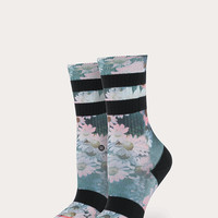 Stance Dizzy Classic Crew Girls Socks Black One Size For Women 26634710001