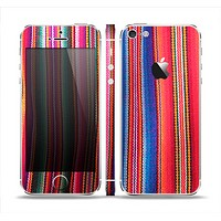 The Colorful Striped Fabric Skin Set for the Apple iPhone 5