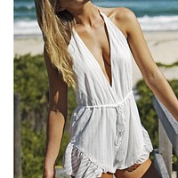 One of the most popular jumpsuits for women is the sexy halter