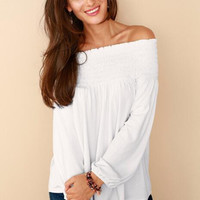 Off Shoulder Loose Shirt B0013711