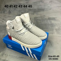 Adidas TUBULAR INVADER STRAP LOS ANGELES Men Women High-Top Fashion Casual Sports Skate Shoes Grey/Red 2 Colors