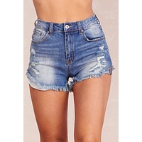 Let It Go Denim Shorts (Medium Wash)