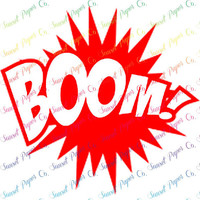 Boom Comic Bubble Vinyl Decal. Available in Any Color or Size, Custom Shapes Available by Request
