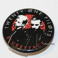 """Licensed cool 21 Twenty One Pilots Music Band Blurryface 1 1/4"""" Button Pin Back Pinback NEW"""