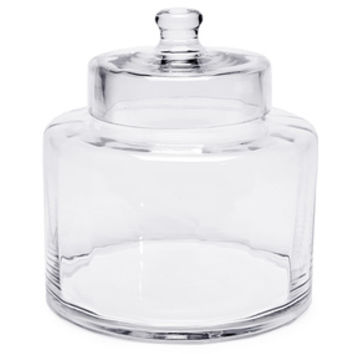 Glass Candy Jar with Lid - Optic: 8-Inch