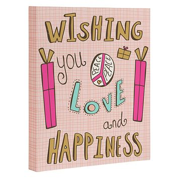 Heather Dutton Peace Love And Happiness Art Canvas