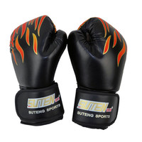 2016 Children MMA Muay Thai Kick Boxing Gloves Half Fighting Boxing Gloves Competition Fire Training Gloves guantes de boxeo