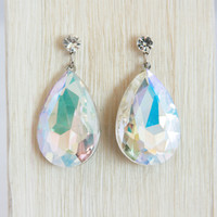 Iridescent Quartz Jewel Earrings