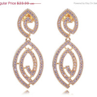 ON SALE TILL 4/6 88 Design Women Luxury Earrings Aaa Quality Cubic Zircon190 Pieces Micro Pave Setting Bridal Wedding Brass Jewelry