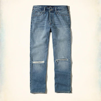 Girls High-Rise Vintage Straight Ankle Jeans | Girls Bottoms | HollisterCo.com