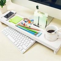 Eco Friendly Wood Plastic Desktop Organizer Over the Keyboard for Home Office Iv...