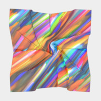 Colorful digital art splashing G391 Square Scarf Square Scarf