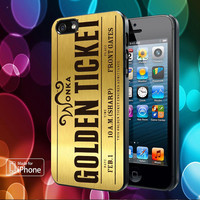 Willy Wonka Golden Ticket Samsung Galaxy S2/ S3/ S4 case, iphone 4/4S case, iphone 5/ 5s/ 5c case, ipod 4 case, ipod 5 case