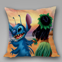 lilo and stitch beach on Decorative Pillow Covers