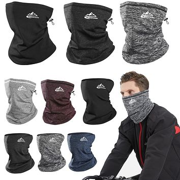 Winter Neck Warmer Cycling Scarf Outdoor Running Sports Headwear Face Scarf Bicycle Bandana Men Simple Fashion Bike Headbands