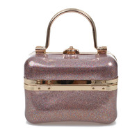 Mutlicolor & Gold Glitter Jelly Tote