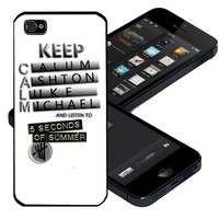 New 5sos Keep Calm and Listen Custom Case for Iphone 5 Case