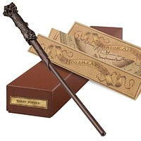 universal studios harry potter interactive resin wand with map new with box