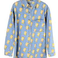 Bart Light Wash Denim Shirt