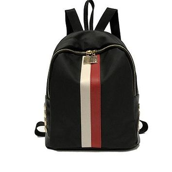 Waterproof Stripe Backpack