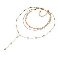 Casual Classical Layered Star Necklace
