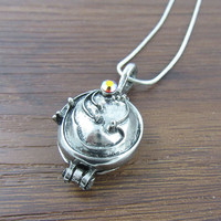 Hot The Vampire Diaries Vervain Pendant Antique Silver Locket Vintage Long Necklace Chain Fine Jewelry