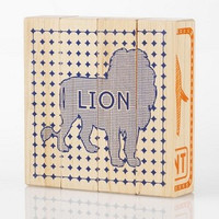 Zoo Animals Wooden Puzzle Blocks