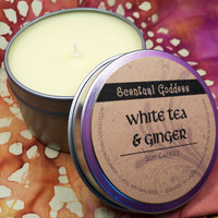 White Tea & Ginger - Clean Fresh Healthy Scented Soy Candle