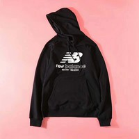 New Balance Print Wweater Hoodie Pullover Lovers Black B-ZDL-STPFYF