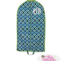 Navy and Lime Twist Personalized Garment Easy Travel Bag