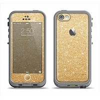 The Gold Glitter Ultra Metallic Apple iPhone 5c LifeProof Fre Case Skin Set
