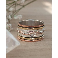 Renata Meditation Spinner Ring - Sterling Silver (BJS005)
