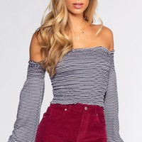 Pierce Off The Shoulder Top