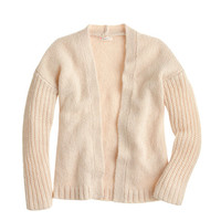 GIRLS' OPEN STITCHED-SLEEVE CARDIGAN