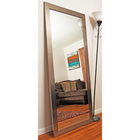 BrandtWorksLLC Grand Silver Leaning Floor Mirror