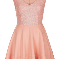 Sequin Bodice Skater Dress - Going Out - Clothing - Topshop USA
